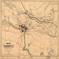 Vintage Richmond VA Rebel Defense Map (1864)