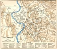Vintage Map of Rome Italy (1870)