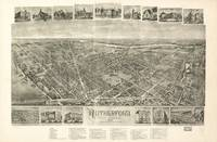 Vintage Pictorial Map of Rutherford NJ (1904)