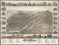 Vintage Pictorial Map of Saginaw Michigan (1885)