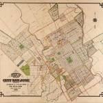 """Vintage Map of San Jose California (1886)"" by Alleycatshirts"