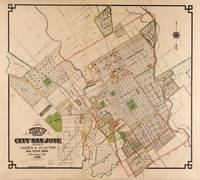 Vintage Map of San Jose California (1886)