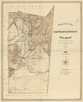 Vintage Map of Santa Fe County NM (1883)