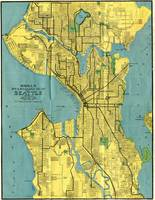 Vintage Map of Seattle Washington (1914)