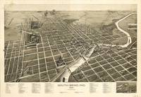 Vintage Pictorial Map of South Bend IN (1890)