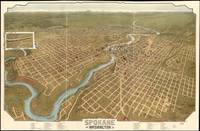 Vintage Pictorial Map of Spokane Washington (1905)