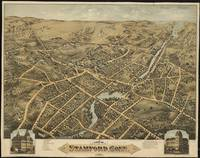 Vintage Pictorial Map of Stamford CT (1875)