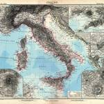 """Vintage Map of Italy (1891)"" by Alleycatshirts"