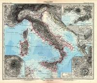 Vintage Map of Italy (1891)