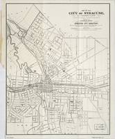 Vintage Map of Syracuse New York (1873)