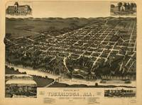 Vintage Pictorial Map of Tuscaloosa Alabama (1887)