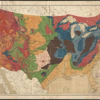 """Vintage United States Geological Map (1872)"" by Alleycatshirts"