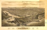 Vintage Pictorial Map of Victoria Vancouver (1878)