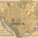 """Vintage Map of Washington D.C. (1893)"" by Alleycatshirts"