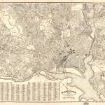 """Vintage Map of Washington D.C. (1900)"" by Alleycatshirts"