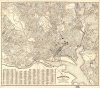 Vintage Map of Washington D.C. (1900)