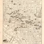 """Vintage Map of Washington D.C. (1914)"" by Alleycatshirts"