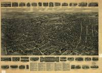 Vintage Pictorial Map of Waterbury CT (1917)