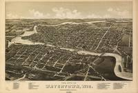 Vintage Pictorial Map of Watertown WI (1885)
