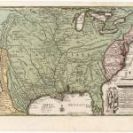 """Vintage Map of America (1719)"" by Alleycatshirts"