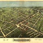 """Vintage Pictorial Map of Westfield NJ (1875)"" by Alleycatshirts"