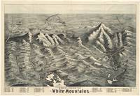 Vintage Map of The White Mountains (1890)