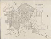 Vintage Map of Wilmington Delaware (1921)