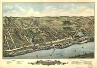 Vintage Pictorial Map of Windsor Locks CT (1877)