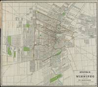 Vintage Map of Winnipeg Canada (1917)