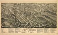 Vintage Pictorial Map of Winston-Salem NC (1891)