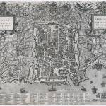 """Vintage Map of Palermo Italy (1581)"" by Alleycatshirts"