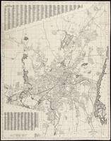 Vintage Map of Worcester Massachusetts (1919)