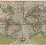"""Vintage Map of The World (1607) 2"" by Alleycatshirts"
