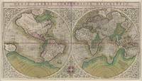 Vintage Map of The World (1607) 2