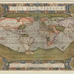 """Vintage Map of The World (1608)"" by Alleycatshirts"