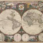 """Vintage World Map (1665) 2"" by Alleycatshirts"