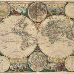 """Vintage Map of The World (1672) 2"" by Alleycatshirts"