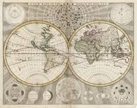 Vintage Map of The World (1687)