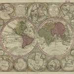 """Vintage Map of The World (1730) 2"" by Alleycatshirts"