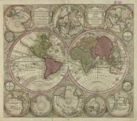 Vintage Map of The World (1730) 2