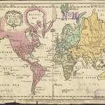 """Vintage Map of The World (1760) 2"" by Alleycatshirts"