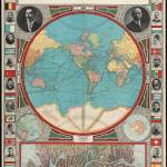 """Vintage Map of The World (1913)"" by Alleycatshirts"