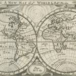 """Vintage Map of The World (1708) 2"" by Alleycatshirts"