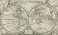 Vintage Map of The World (1708) 2