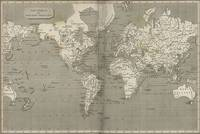 Vintage Map of the World (1820) 2