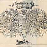 """Vintage Map of The World (1598)"" by Alleycatshirts"