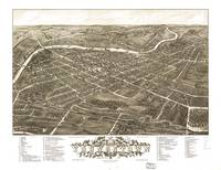 Vintage Pictorial Map of Youngstown Ohio (1883)