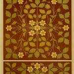 """Vintage Leaf and Flower Brown Design Pattern"" by Alleycatshirts"