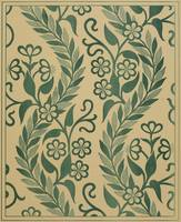 Light Green Leafy Vines Design