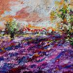"""Impressionist Lavender Field Provence"" by GinetteCallaway"